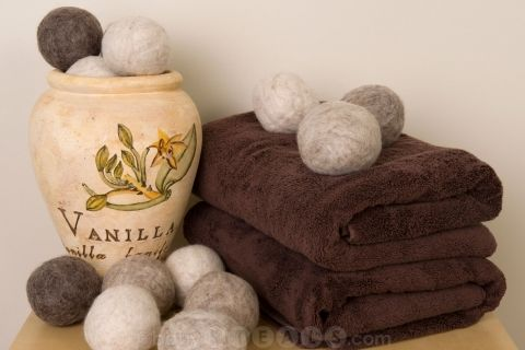 Wool dryer balls are a chemical-free, eco-friendly way to do laundry that gets rid of wrinkles, static, AND helps your clothes dry faster. Love these!