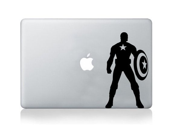 Macbook decal pro air vinyl sticker capitan america decal mural transfer graphic laptop notebook skin asus hp toshiba dell decal