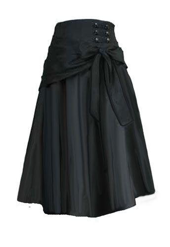 Steampunk Skirt (could sort-of DIY with a scarf as a belt.)