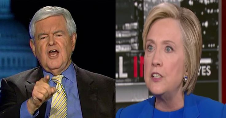 "After Hillary Called Trump Supporters Racist ""Dogs,"" Newt Gingrich Said 1 Thing That'll Ruin Her Career"