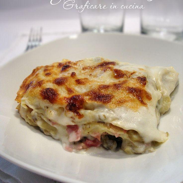 Lasagne bianche con verdurine e prosciutto |