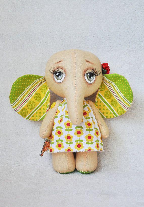 Текстильный слон, слон ветоши, игрушка слон