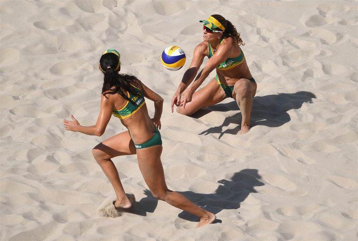 Franca Maestrini, Larissa, Rocha, Talita - Brazil - Beach Volleyball - Brazil - Women - Women's Preliminary - Pool A - BVA - Beach Volleyball Arena