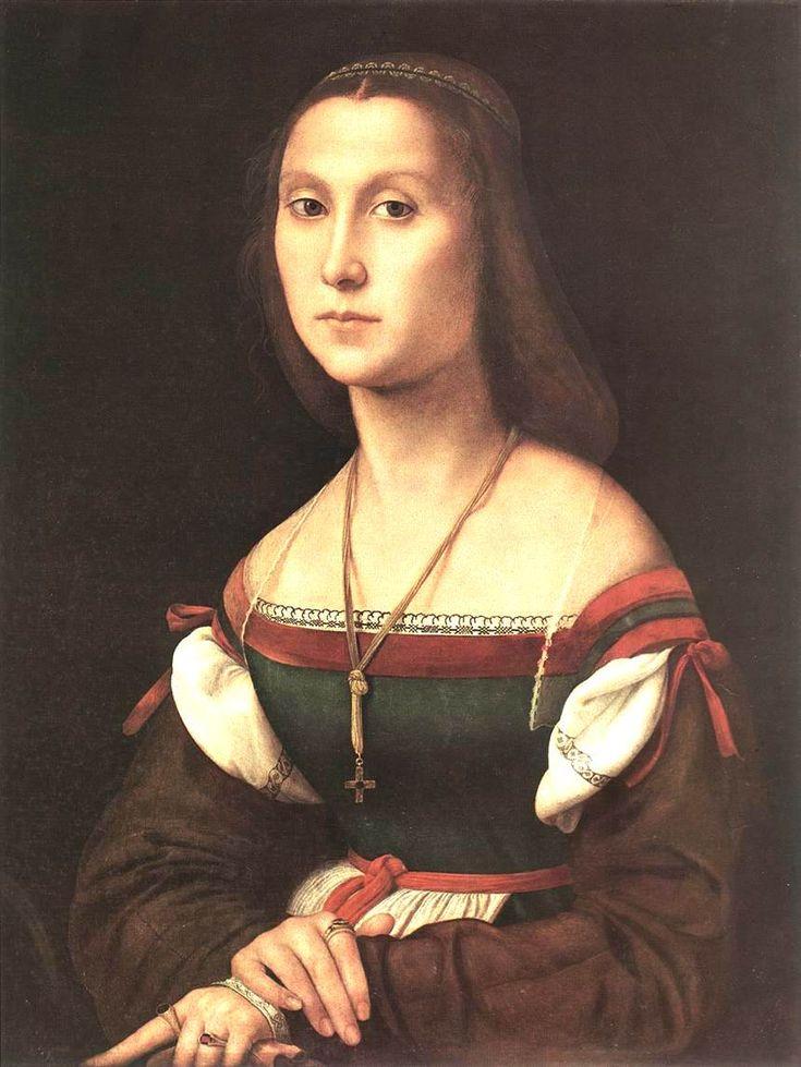 Raphael (Raffaello Sanzio da Urbino) ~ Portrait of a Woman (La Muta), 1507