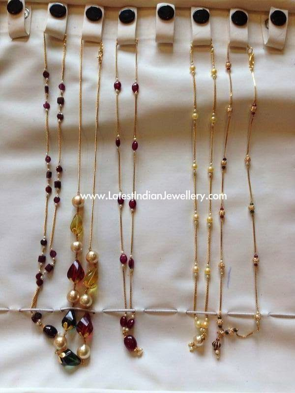 Simple Light Weight Gold Chains
