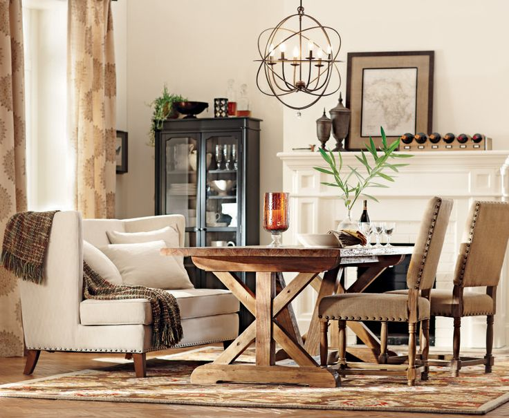 Turn Your Dining Room Into A Perfect Harvest For Thanksgiving By Adding Cozy Accessories Like