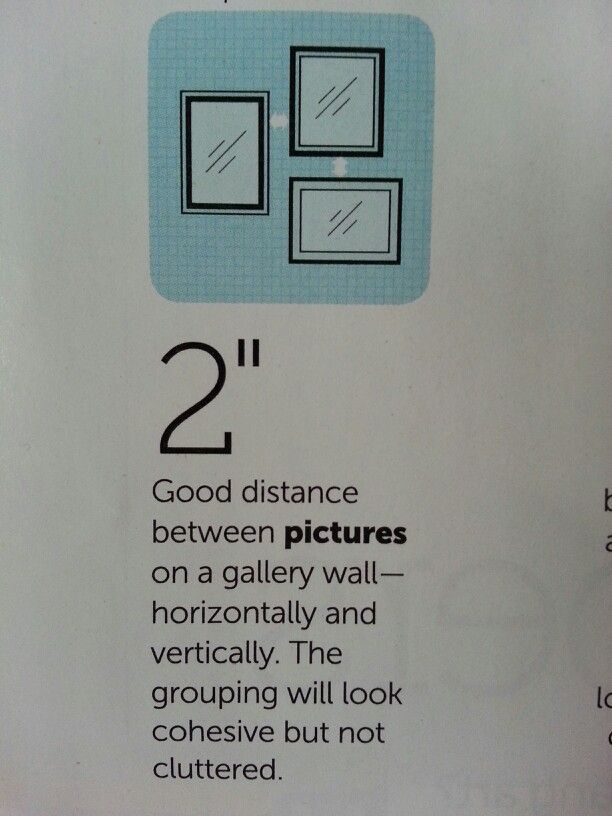 2 Quot Is The Best Distance Between Pictures On A Gallery Wall