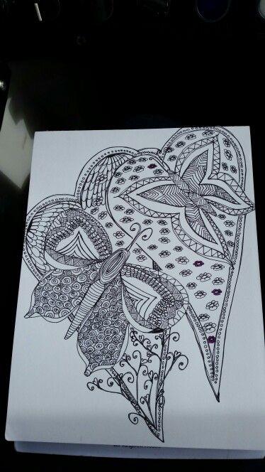 Nach einer Idee aus einem Buch... selbst gemalt, noch nicht bunt. Meine Arbeit tk