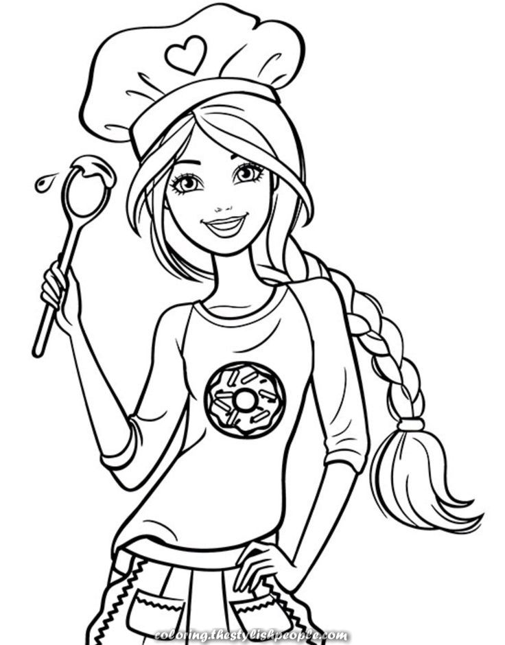 The Best Barbie Chief Coloring Barbie Coloring Pages Barbie Drawing Elsa Coloring Pages