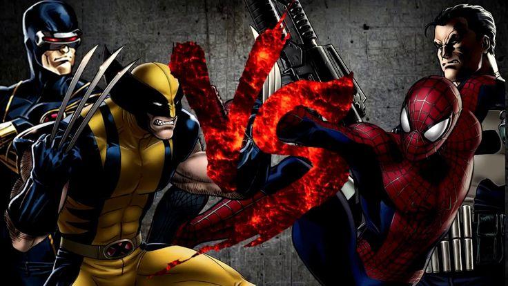 Циклоп и Росомаха VS Каратель и Человек-Паук [Bifrost Fight Club 3.0]