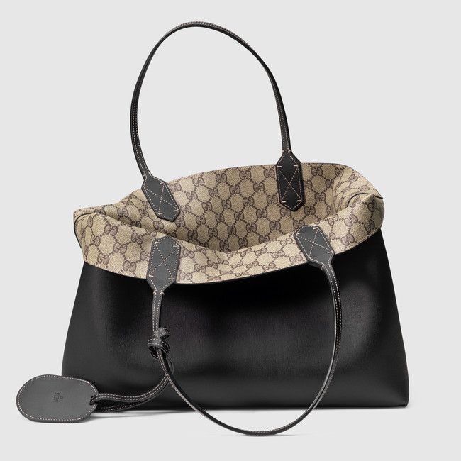 Reversible Gucci leather tote