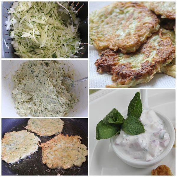 Tortitas de calabacín con salsa de yogur… ¿a qué suena bien? Pues os aseguro que mejor saben, están riquísimas y vuestros peques van a comer verdura sin pr