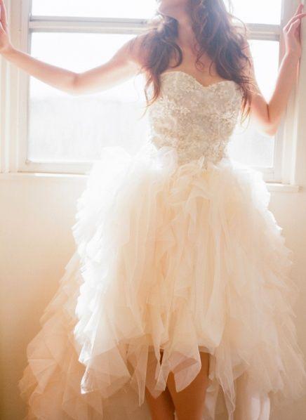 Vestido novia de corto