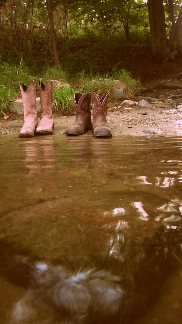 Boots :) going for a swim...