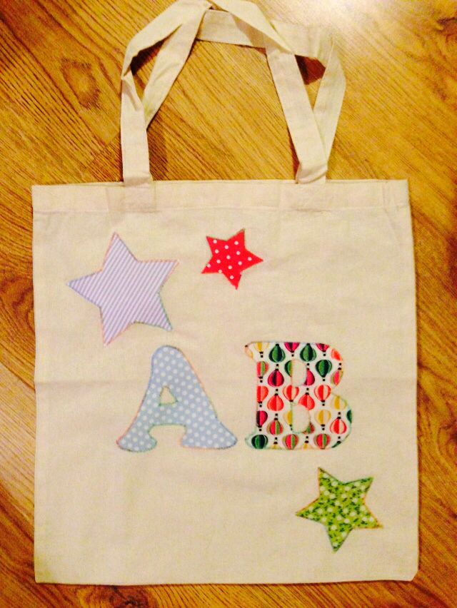 Another bag. Variable thread for the appliqué is a cute look.