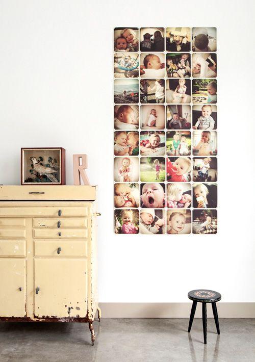 Ixxi Boven: zwart-wit OF instagrams, allemaal afzonderlijke foto's Beneden: 1 grote natuurfoto OF grote foto's van kinderen waaraan je kan bijbouwen of vervangen