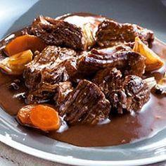 Boeuf bourguignon à la mijoteuse- Recette de cuisine