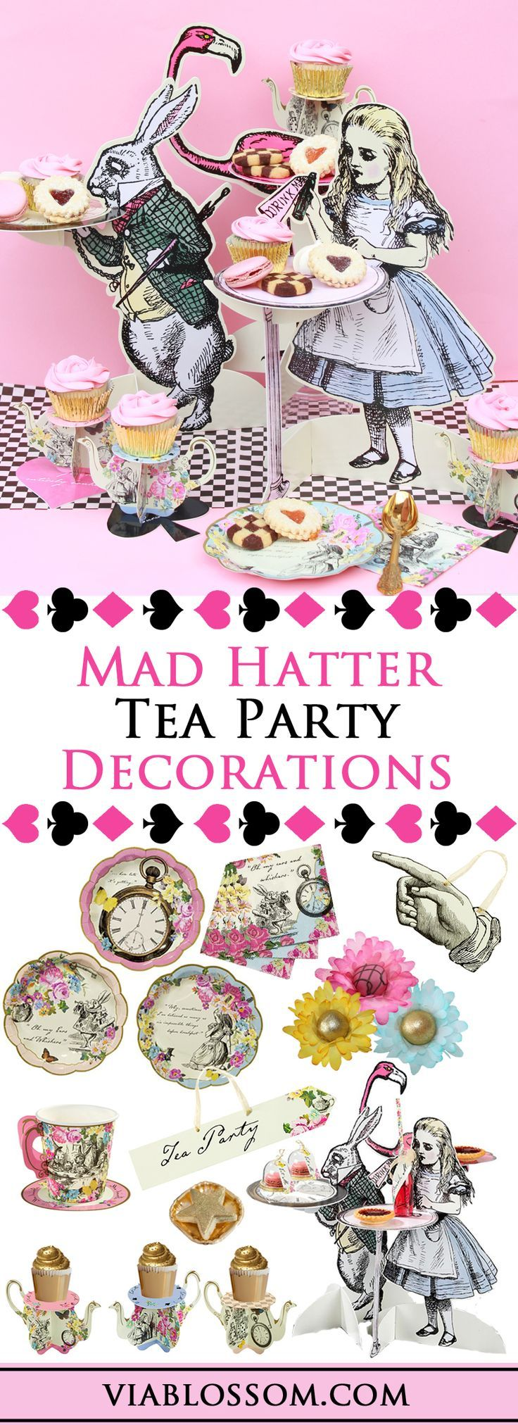 Mad hatter tea party decoration ideas - Mad Hatter Tea Party Decorations For A Fabulous Alice In Wonderland Party All The Alice In Wonderland Party Ideas For A Girl Birthday Party