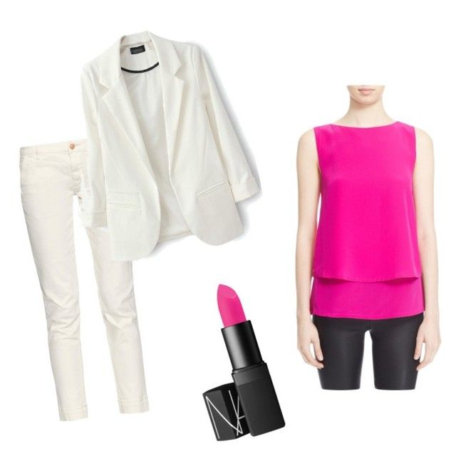 """""""white&hot pink pop up"""" by risha69 on Polyvore featuring Trina Turk, Earnest Sewn, women's clothing, women, female, woman, misses and juniors"""