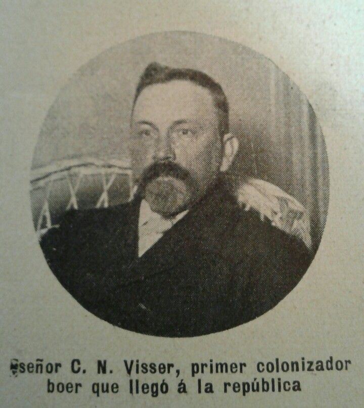 Mr C. N. Visser, first boer colonizer who came to Argentina. 1905