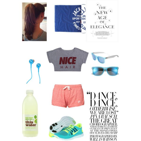 """""""Sports """" by anaikwind on Polyvore,i want green and volt nike free 5.0, cheap website for nikes 54% off         #cheap #nike #free"""