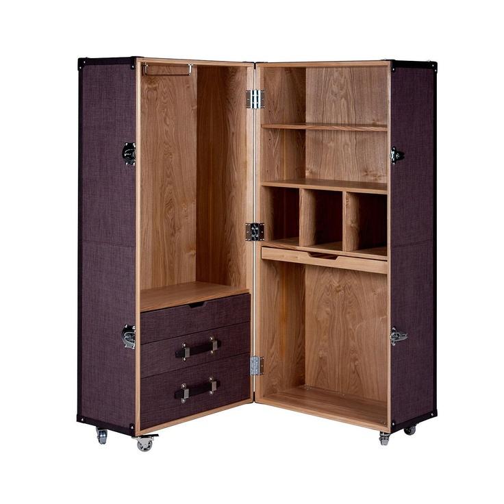 BUTLERS HEMINGWAY Suitcase-style wardrobe 68.5 x 65.5 x 155 cm: Amazon.co.uk: Kitchen & Home