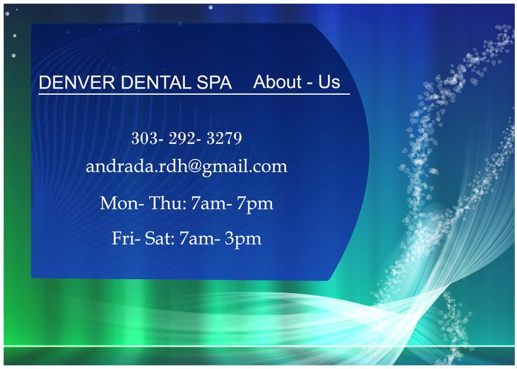 Denver Dental Spa is mainly designed to provide preventative dental care to our downtown residents and working professionals. We can take care of all your dental problems.