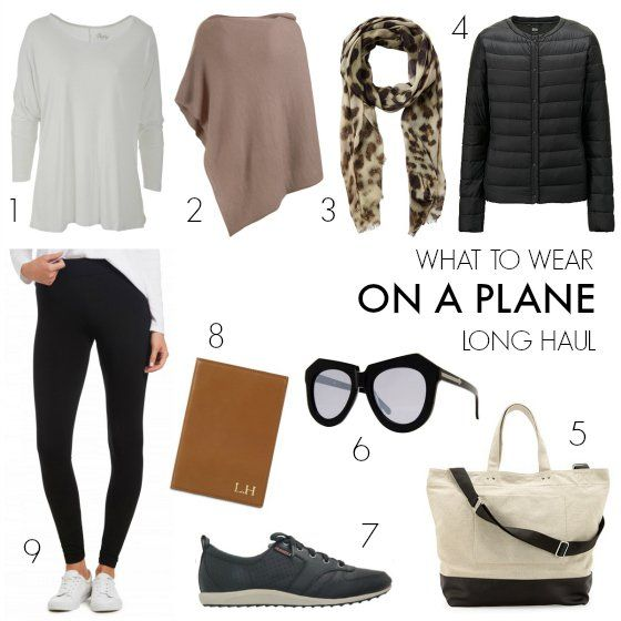 What to wear on a plane - long haul flight