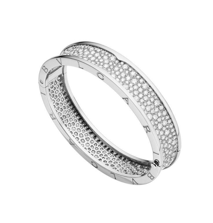 bzero1 white gold diamond bangle bracelet