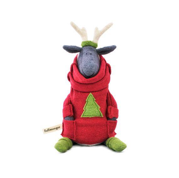 Organic Plush Christmas Sheep by fluffmonger