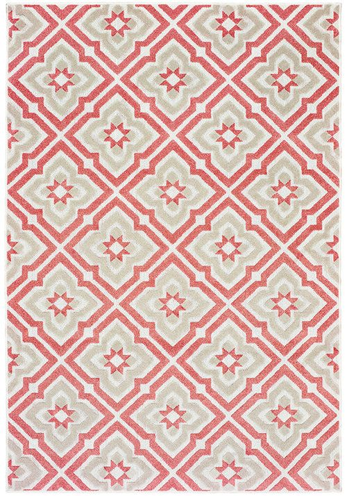 Barbados Sagaponack Pale Red And Taupe High Quality Affordable Red