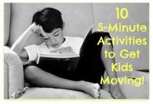 5-minute get-moving activities. Sitting has been called the new smoking. Have you ever though about how much you sit during the day? Here are some ideas to get up and moving!| Nurture Her Nature