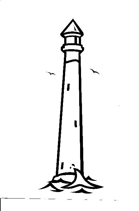 This cemetery monument design features a lighthouse