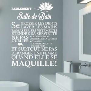 stickers blanc crative sticker mural pour salle de bain d - Stickers Salle De Bain Texte