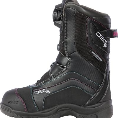 Divas SnowGear Avid Technical Boa Snowmobile Boots#Woman's Boots# Pink and Black#Waterproof#Windproof