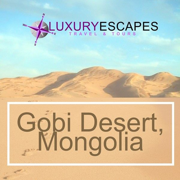 Todays #AmazingPlace is the Gobi Desert. A vast, arid region in southern Mongolia. It's known for its dunes, mountains and rare animals like snow leopards and Bactrian camels. Go explore ! www.luxuryescapes.co.za