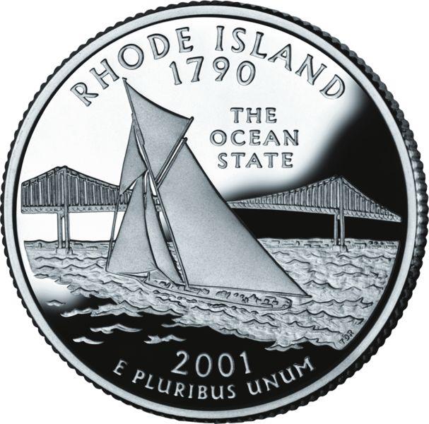 Rhode Island Quarter dollar 2001