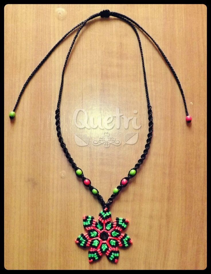 Collar flor mandala macramé  #collar #flor #mandala #macrame #fluor #smillas