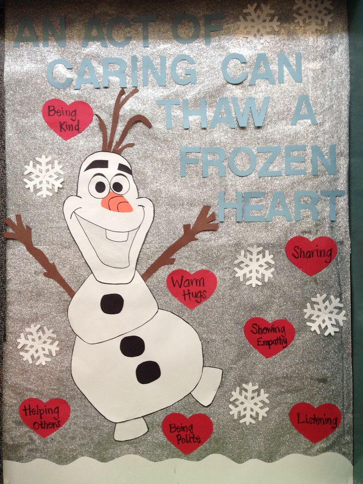 Frozen Caring Bulletin Board #characterlessons #caring #schoolcounseling