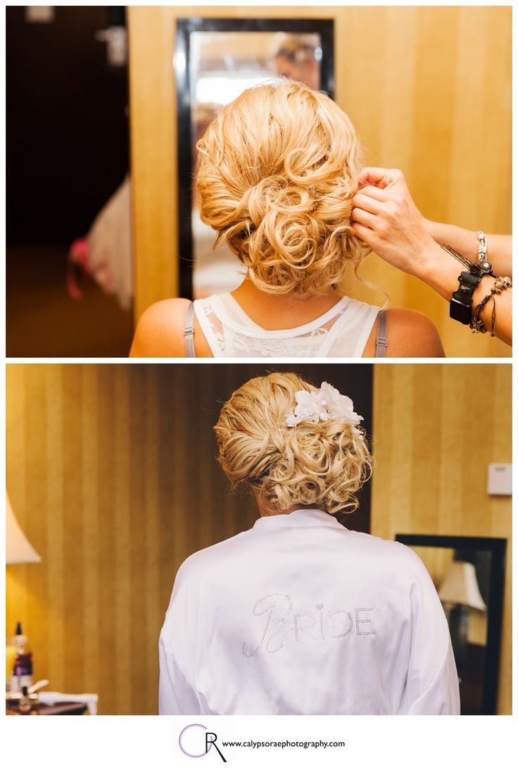 Curled And Tucked To The Side Wedding Hair And Make Up