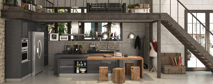 Les 25 meilleures id es de la cat gorie cuisine ixina sur pinterest ixina cuisine armoire - Keuken petite espace ...