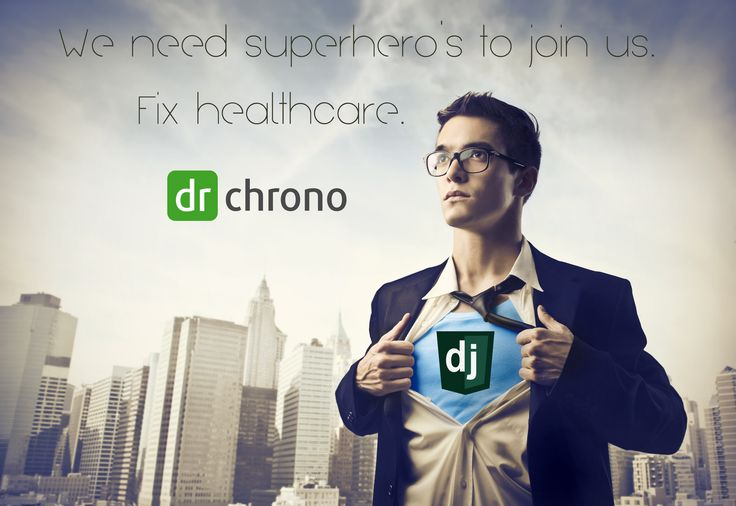 Looking for a few hero's that know Django and iOS to help us fix healthcare. Join us - drchrono.com/careers