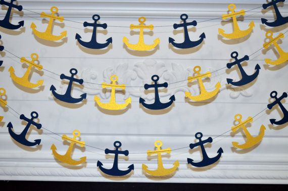 Hey, I found this really awesome Etsy listing at https://www.etsy.com/listing/199376482/paper-anchor-garland-navy-gold-anchor