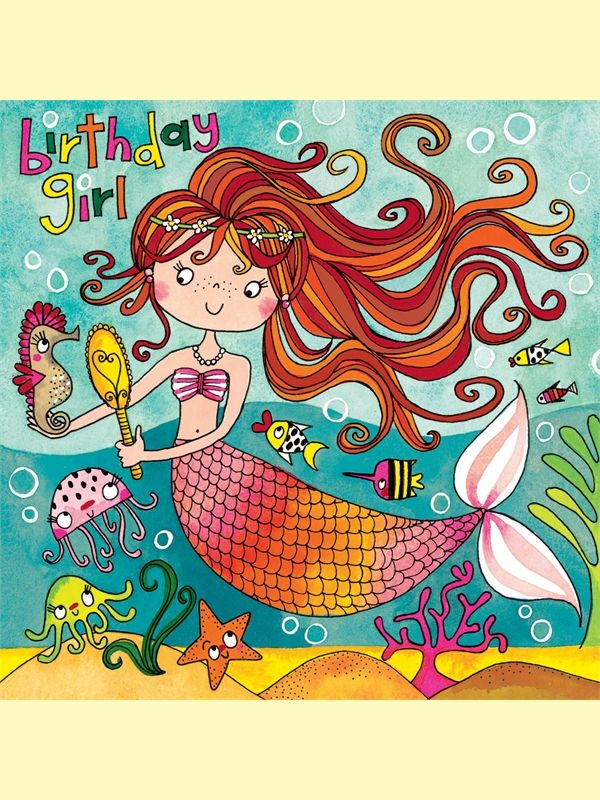 Mermaid Jigsaw Birthday Card