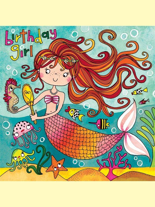 Mermaid Jigsaw Birthday Card