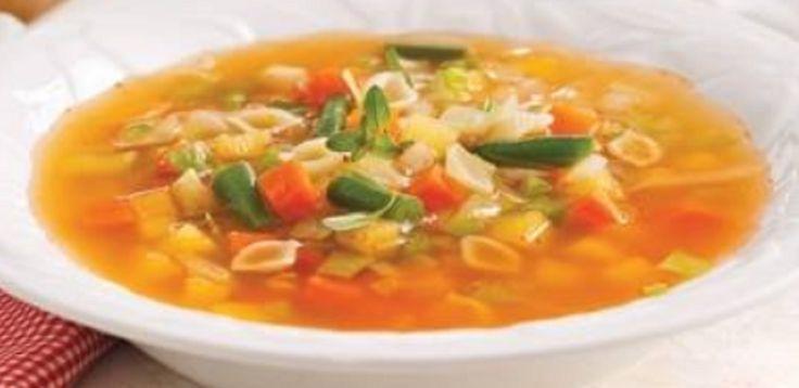 Recette : Soupe coquilles et légumes.