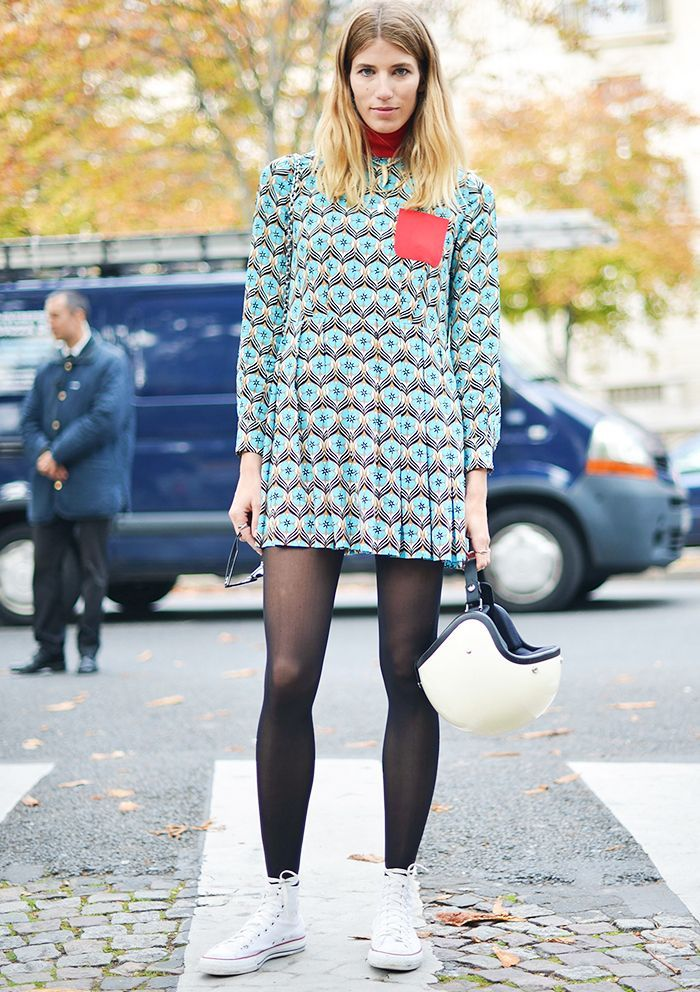 black tights with sneakers