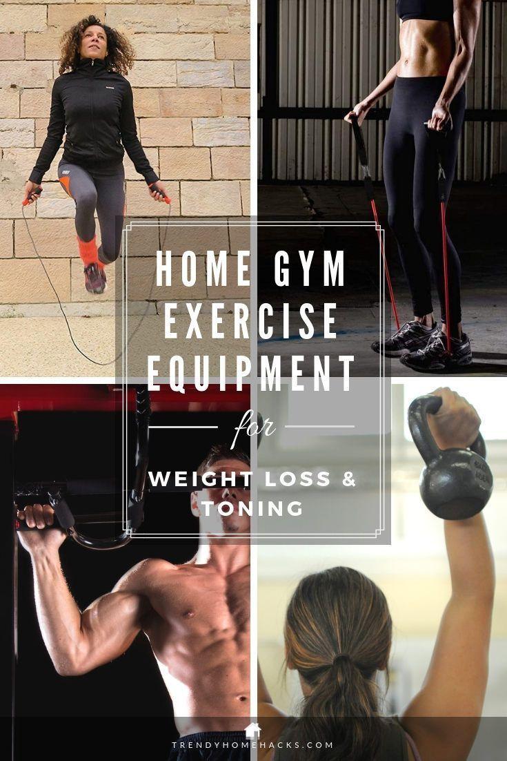 Home gym exercise equipment for weight loss and toning