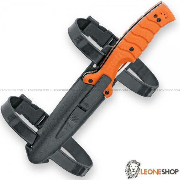 Coltello Militare Tattico Chiudibile/Lama Fissa A.R.D. Advance Rescue Diver FOX FKMD Maniago, coltelli militari tattici subacquei con lama dentata in acciaio inox N690Co Cobalto Vanadio di altissima qualità con finitura lucida a specchio - HRC 58/60 - Lunghezza lama 11 cm - Spessore 4 mm - Manico con due liner in acciaio e guancette in G10 3D Orange lavorato a cnc per un ottimo grip - Sistema di chiusura Liner Lock, Clip posteriore reversibile in acciaio inox 420J2B e sistema blocco lama…