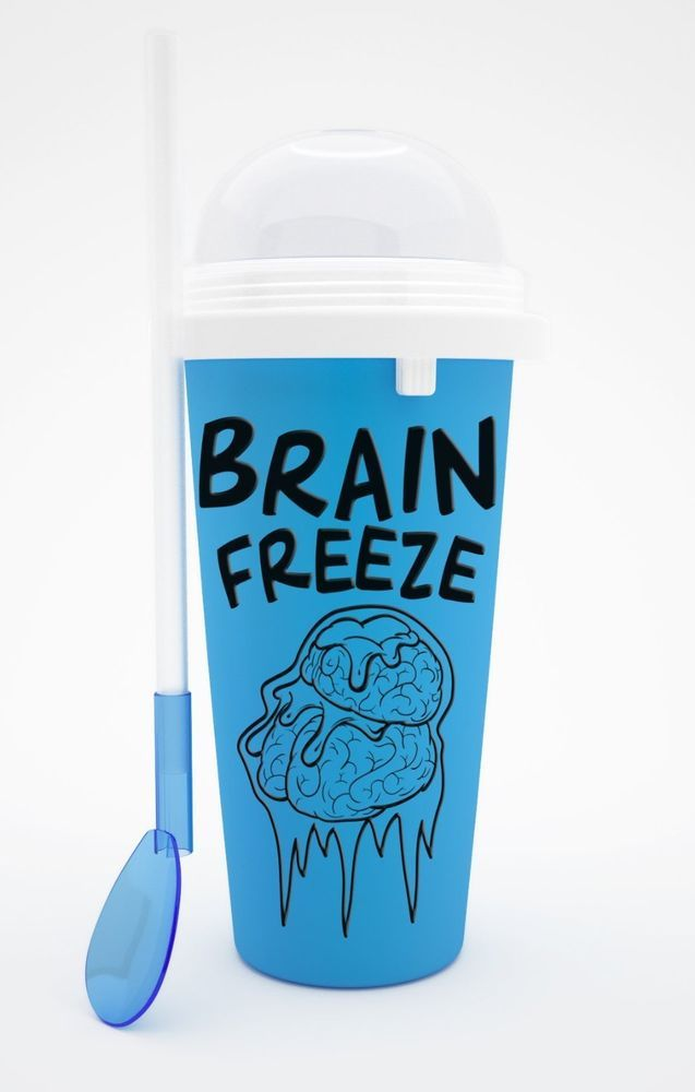 Blue Slush Puppy Maker Cup Squeeze Cup Slushy Frozen Ice Cold Drink Shaker Food